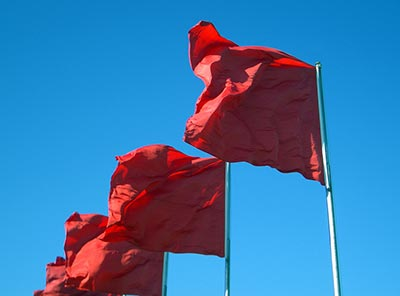 """""""Does anyone else see the million red flags flapping briskly in the wind?"""""""